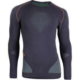 UYN Evolutyon UW LS Shirt Herre charcoal/green/orange shiny
